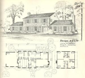 Vintage House Plans, Georgian