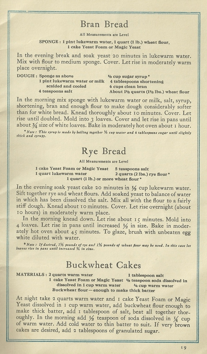 Vintage Recipes, Baking Bread