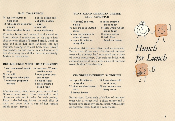 vintage recipes, toast
