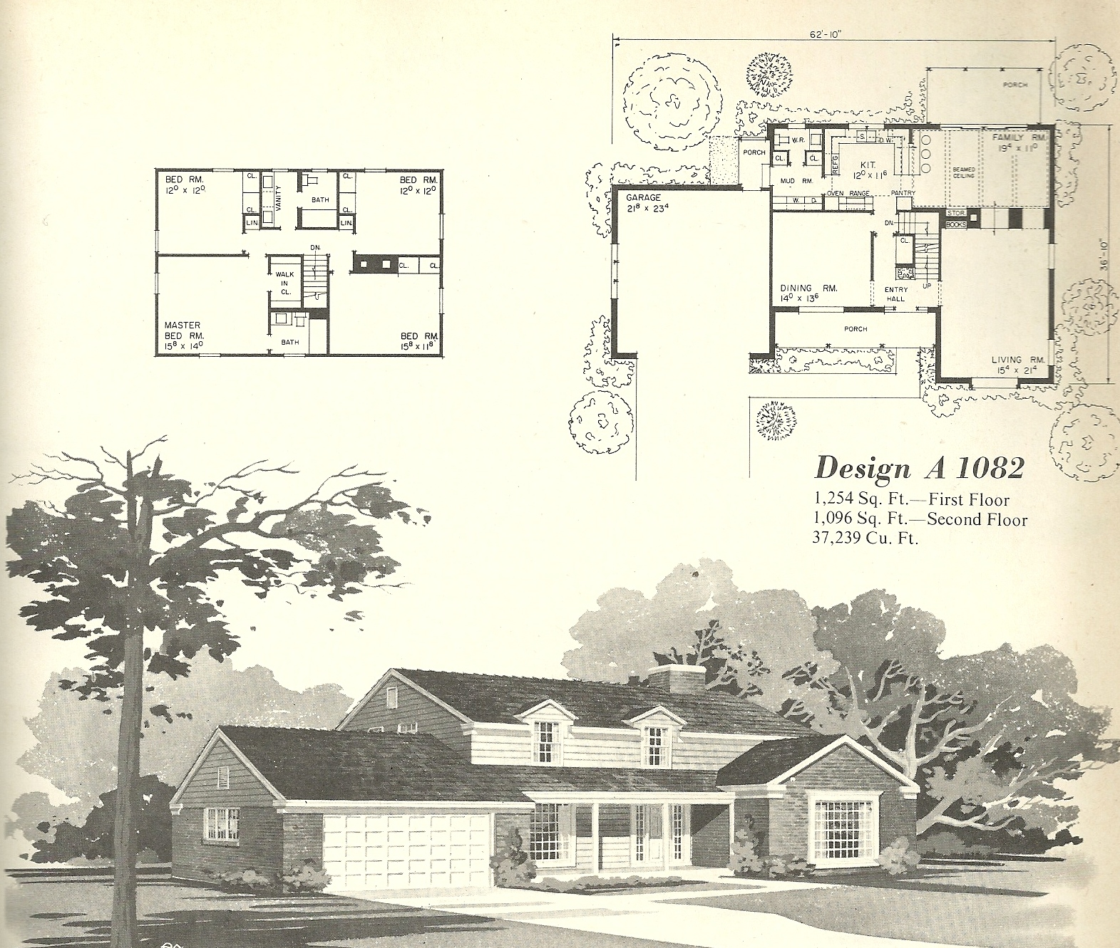 Vintage house plans 1082 antique alter ego for Vintage floor plans