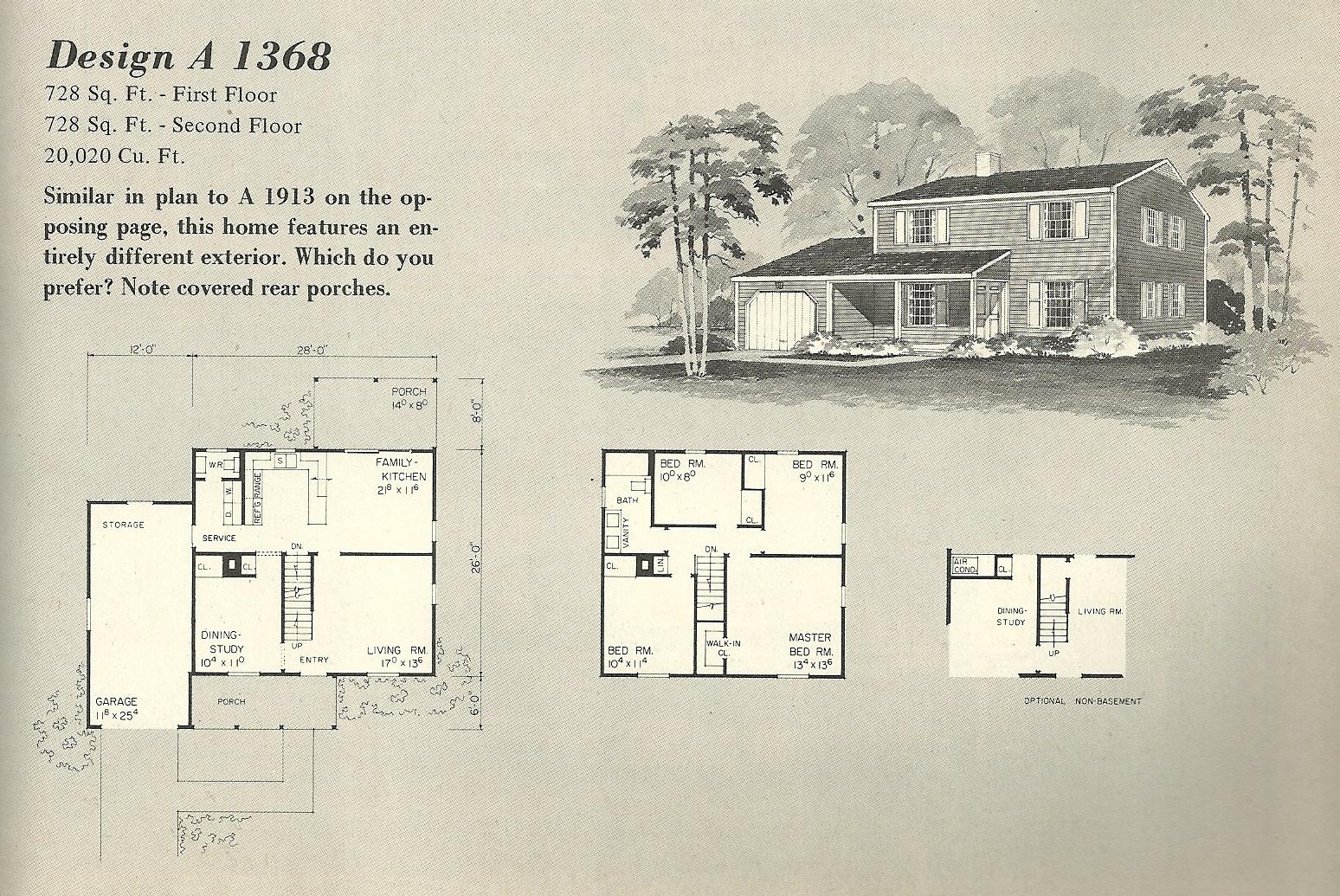 Vintage House Plans 1970s Farmhouse Variations Part 2 Antique