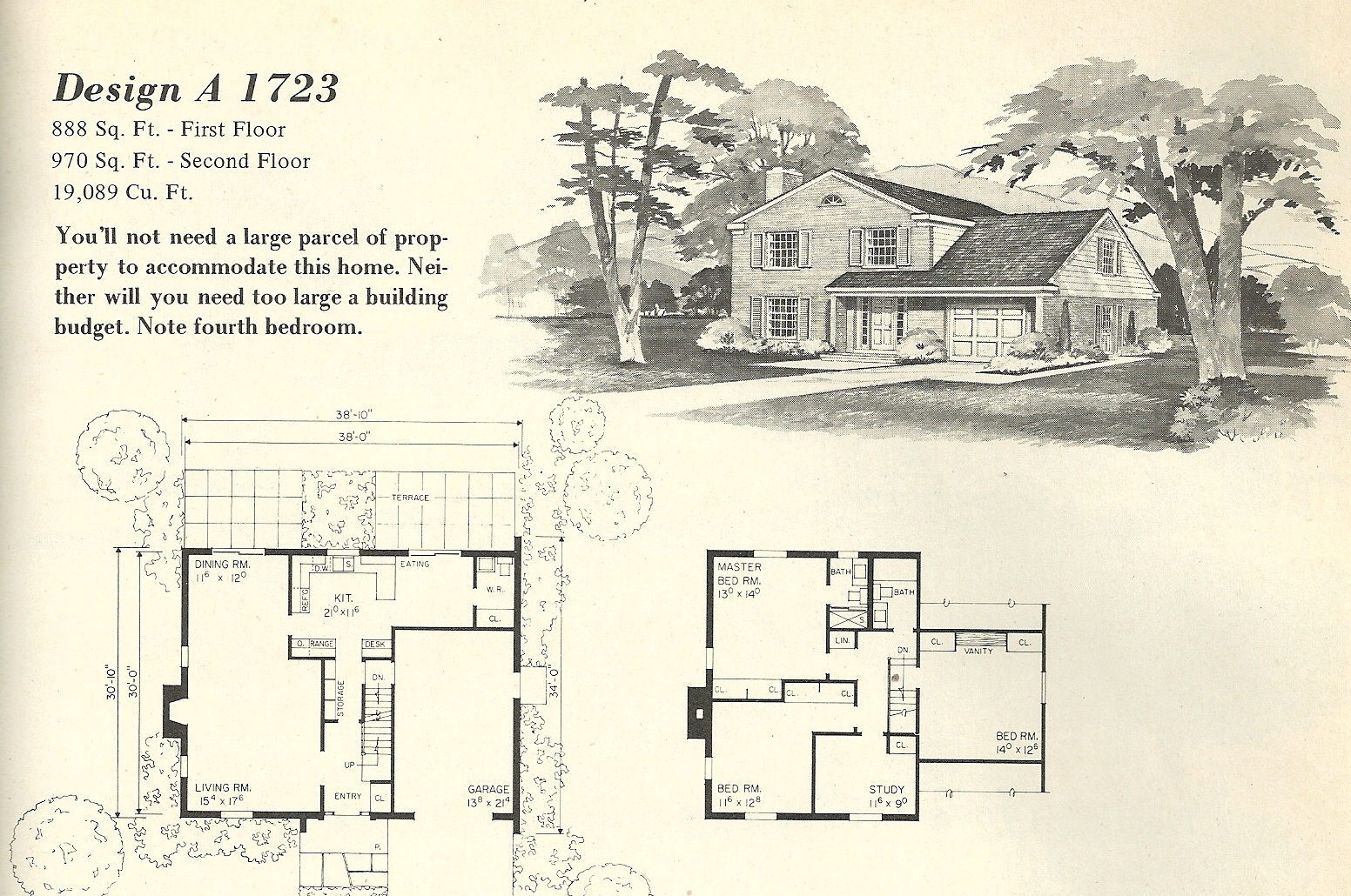 Vintage house plans 1723 antique alter ego for Vintage home plans