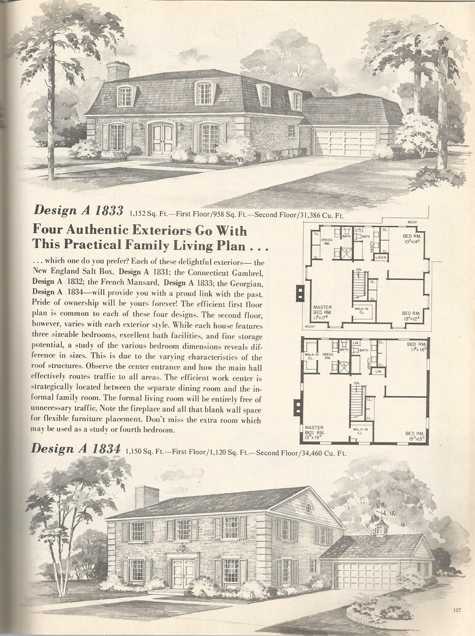 Vintage house plans 1833 antique alter ego for Antique farmhouse plans