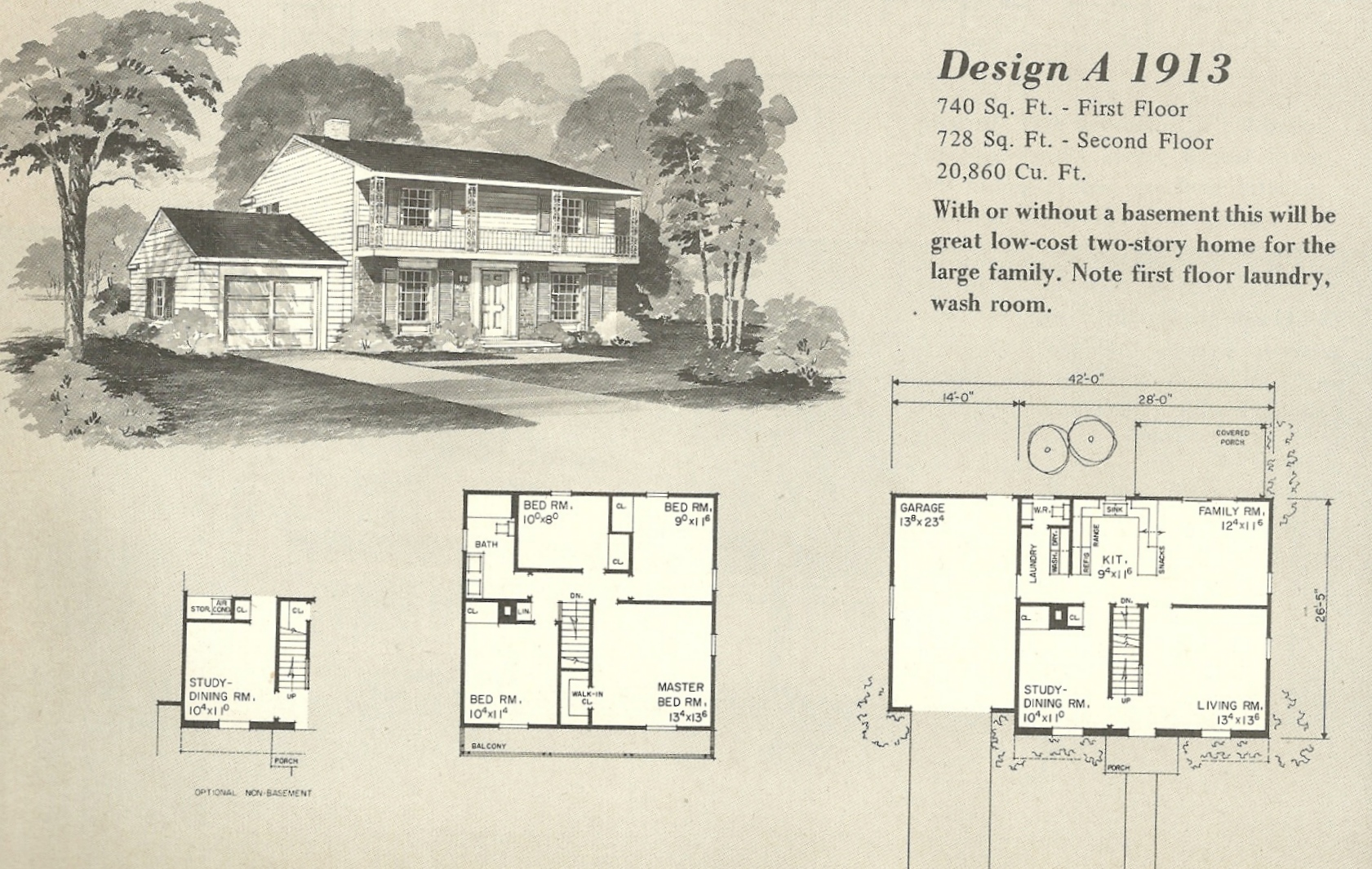 Vintage house plans 1970s english style tudor homes for Vintage floor plans