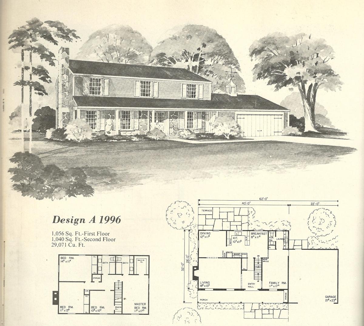 vintage house plans, mid century house plans, mid century homes