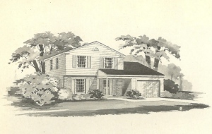 vintage house plans, mid century house plans, mid century homes