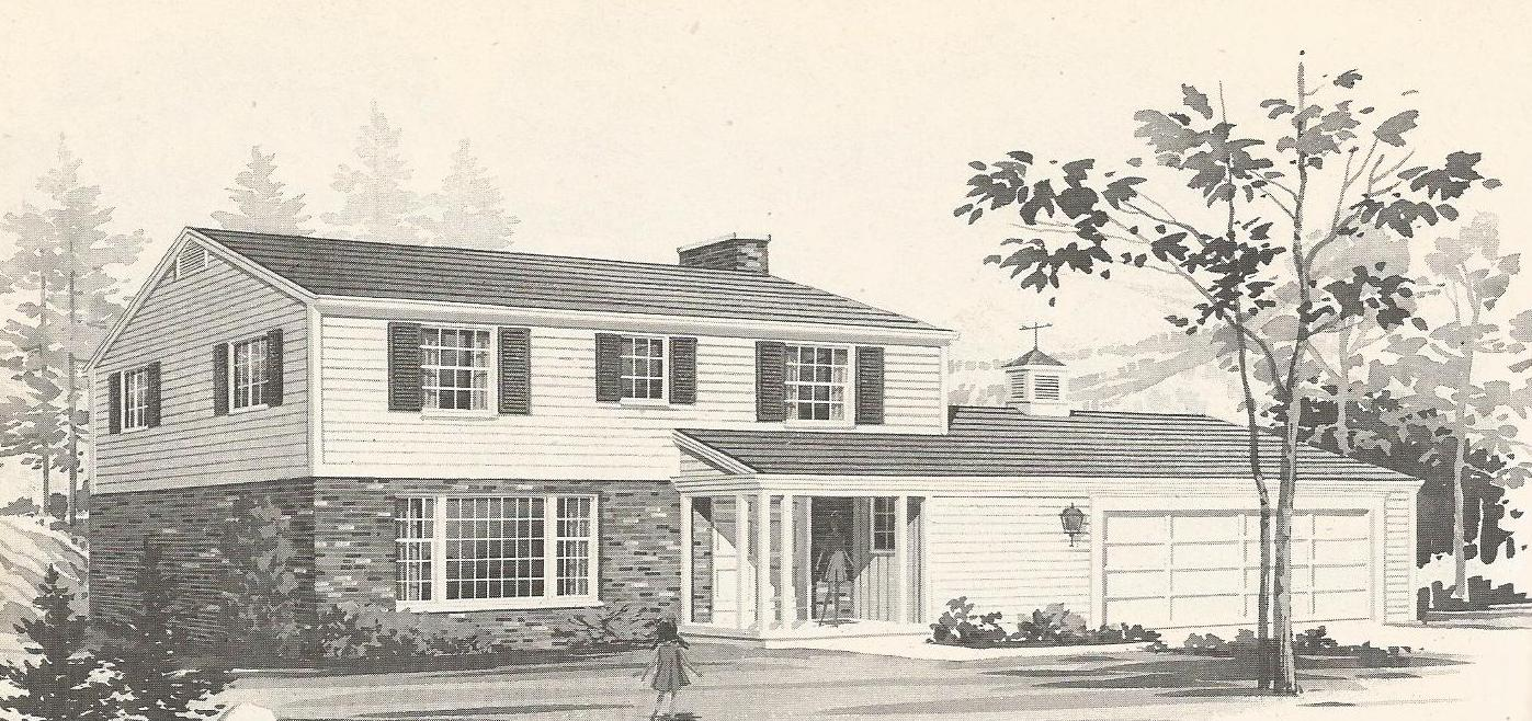 vintage house plans 1970s traditional homes antique
