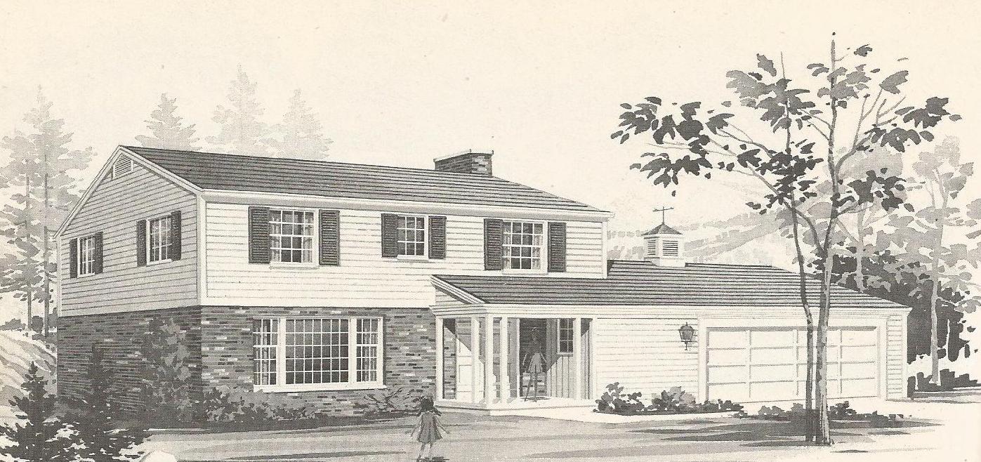 Vintage house plans a for Retro house plans