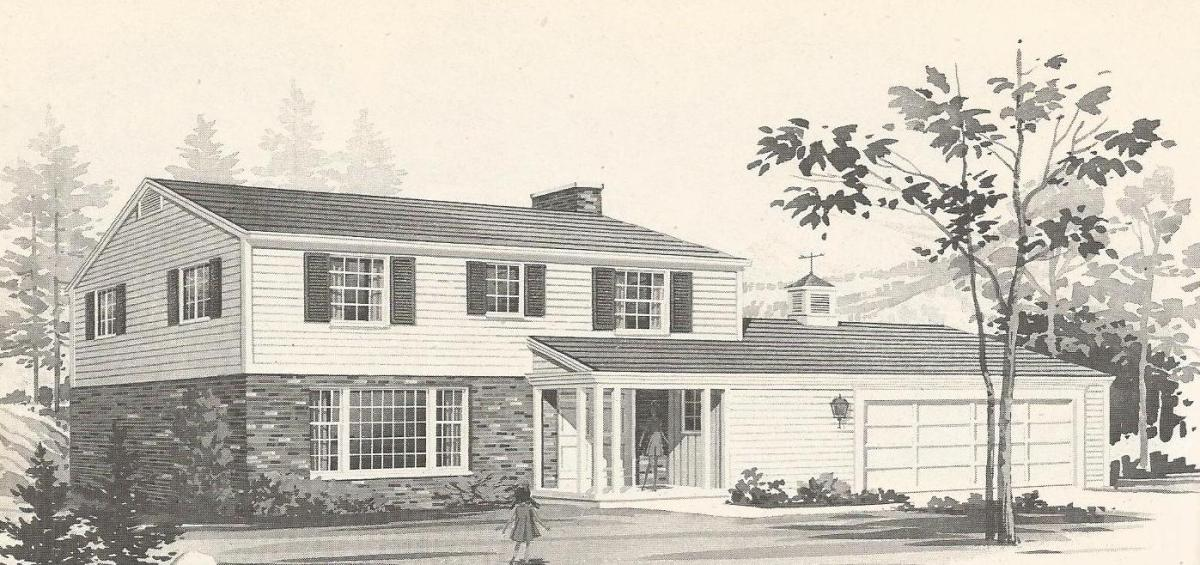 Vintage house plans 1970s traditional homes for New houses that look old plans