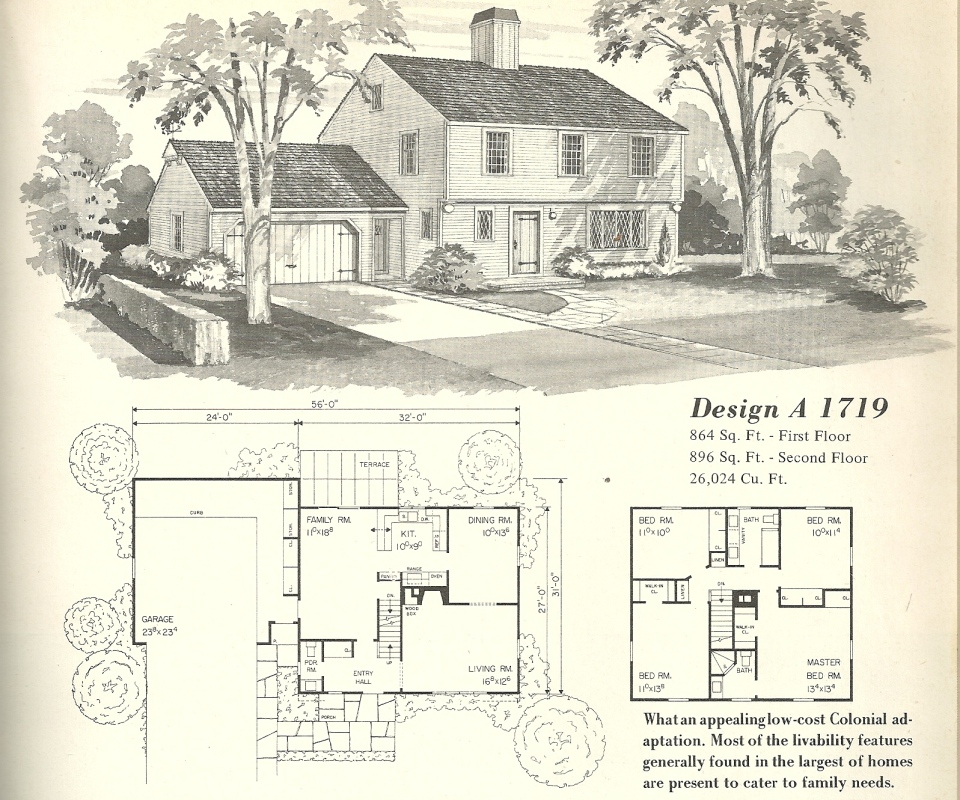 Vintage house plans farmhouse 9 antique alter ego for Vintage home plans