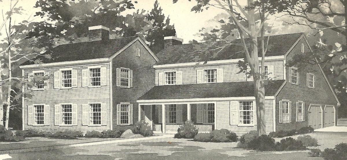 Vintage house plans 1970s farmhouse variations antique for Retro house design