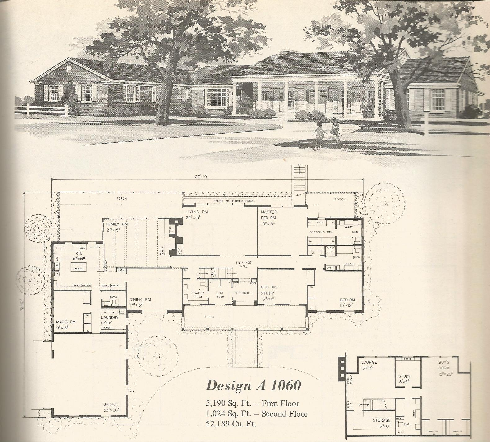 Vintage Home Plans Country Estates 1060 Antique Alter Ego