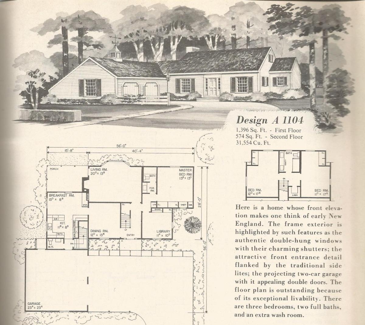 Vintage home plans country estates 1104 antique alter ego for Country estate home plans