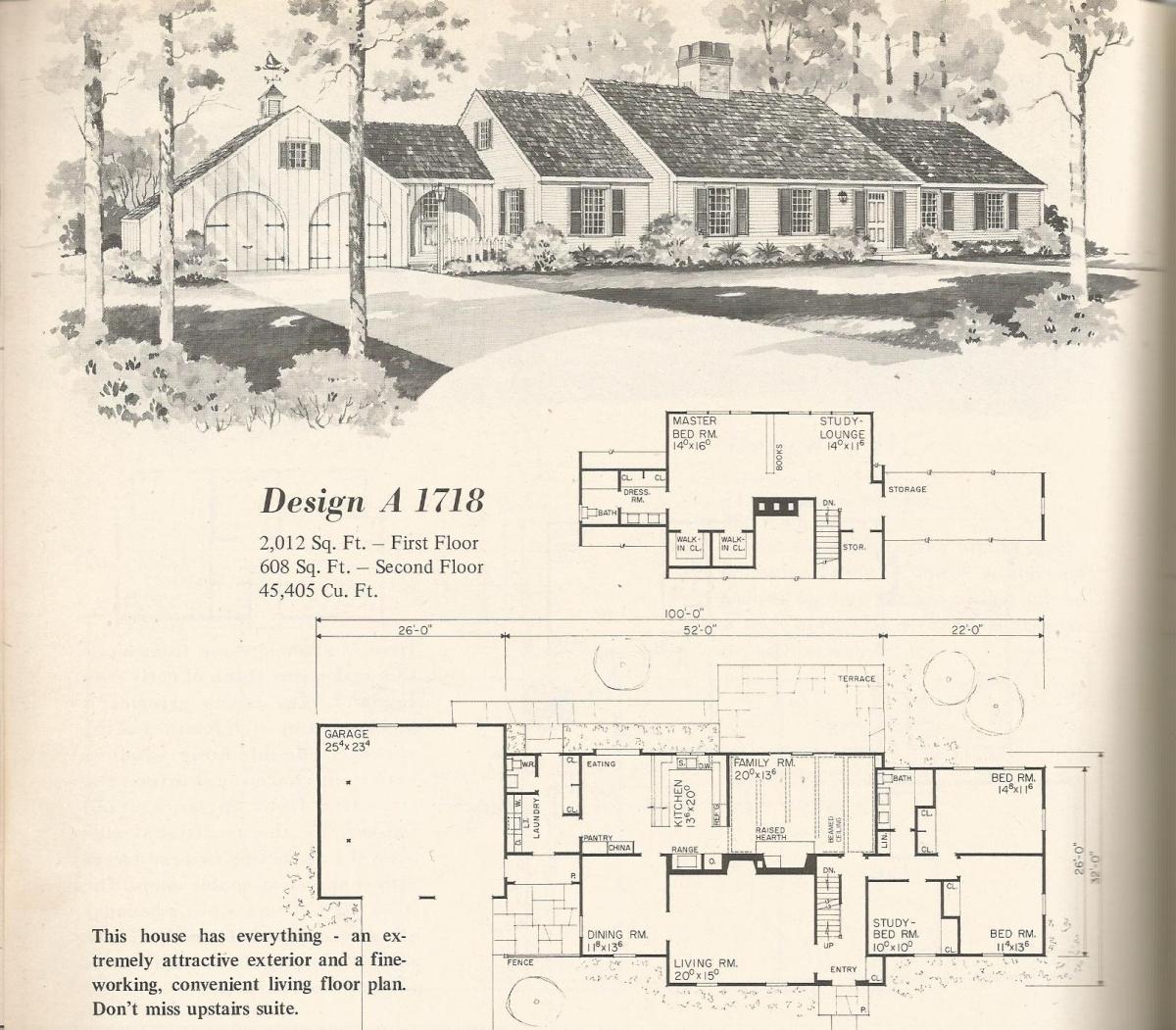 Vintage Home Plans, country estates