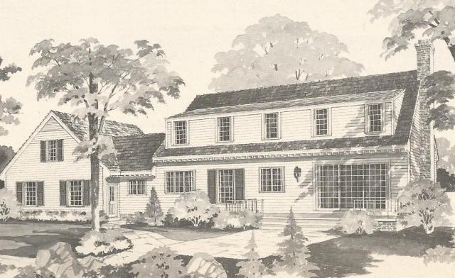 Vintage house plans 1970s country estates antique alter ego for Country estate house plans