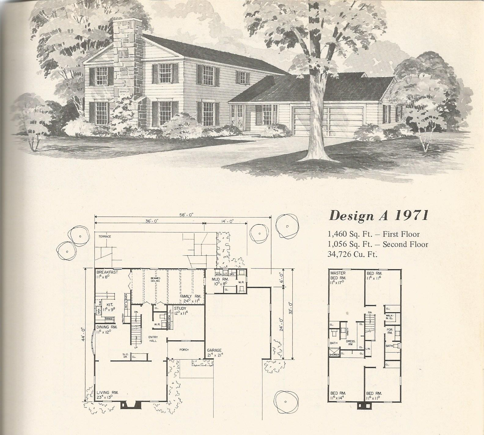 Vintage home plans old west 1971 antique alter ego for Historic farmhouse floor plans