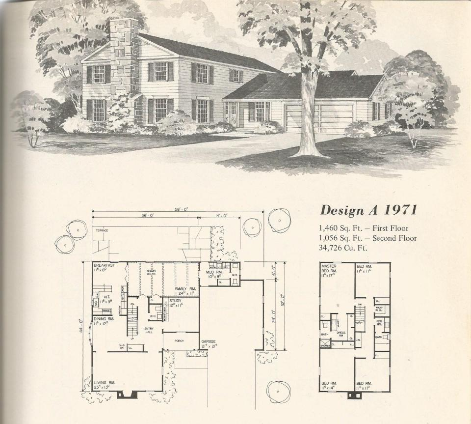 Old style house plans for Vintage floor plans