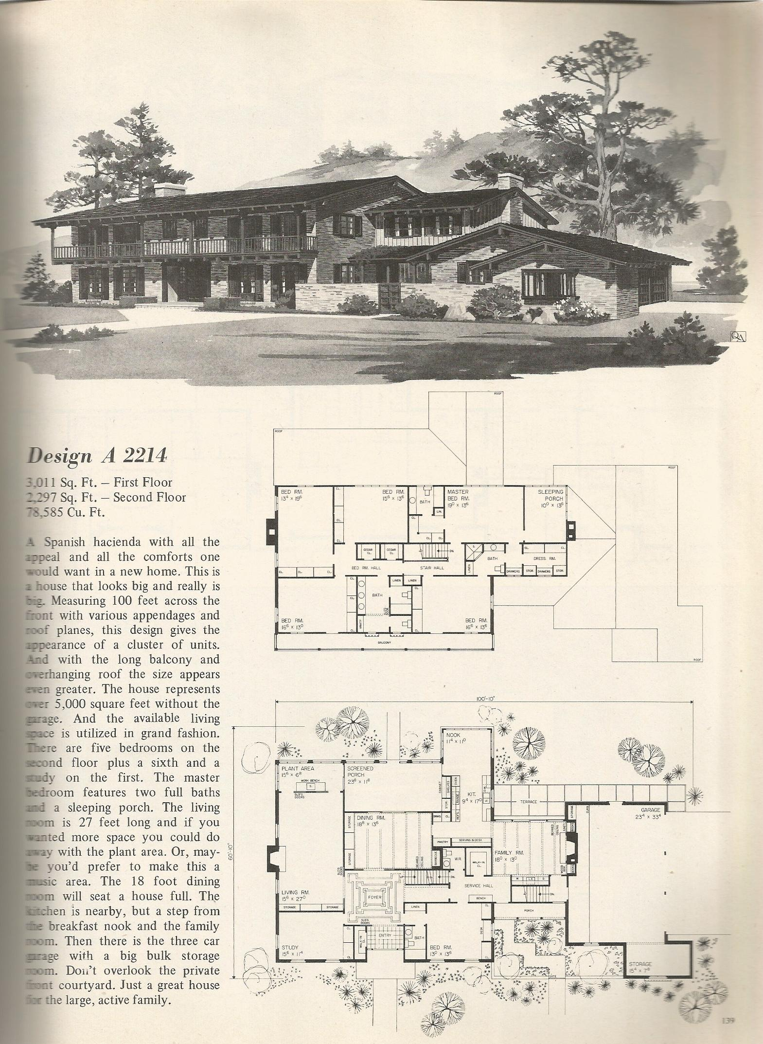 Vintage home plans old west 2214 antique alter ego Classic house plans