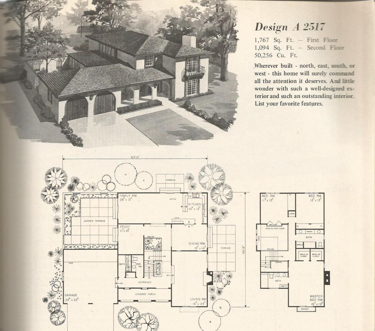Vintage Home Plans Old West 2517