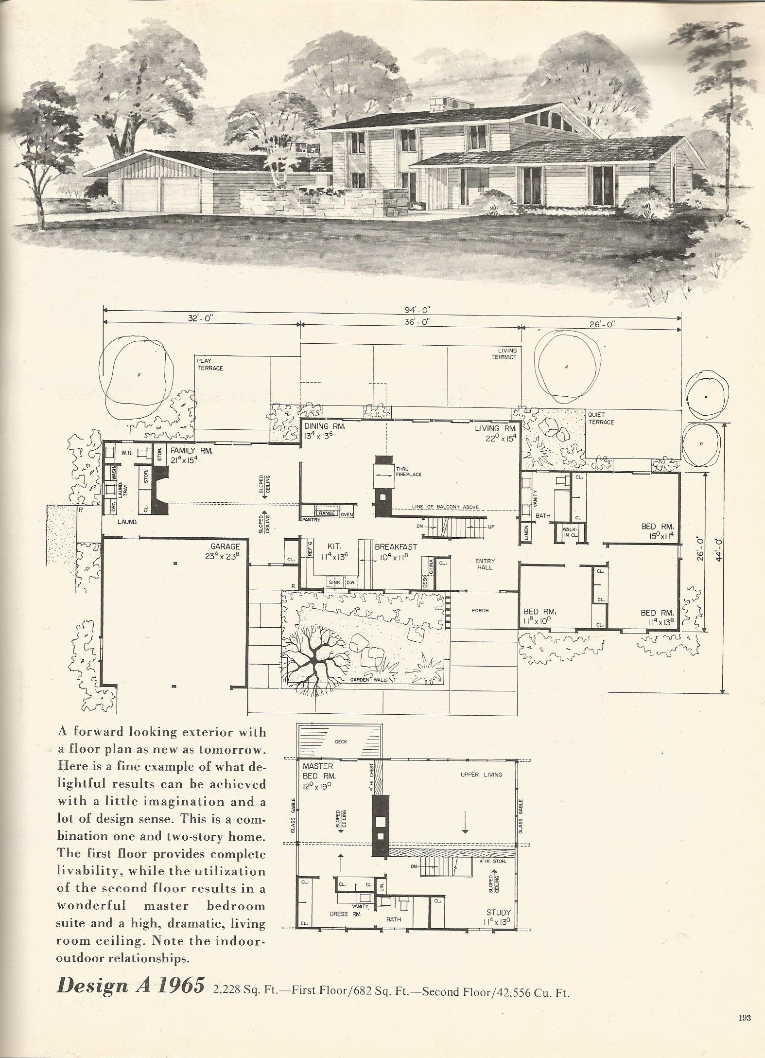 1970 house floor plans wood floors for Vintage floor plans