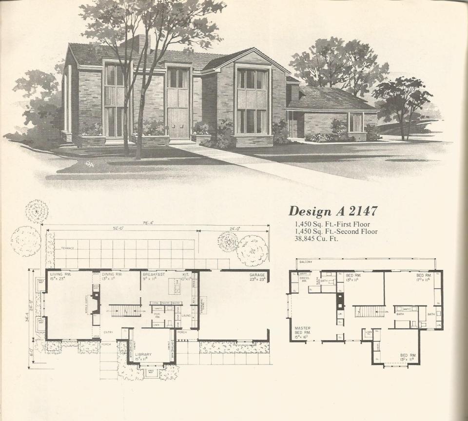 Vintage House Plans 2147 Antique Alter Ego