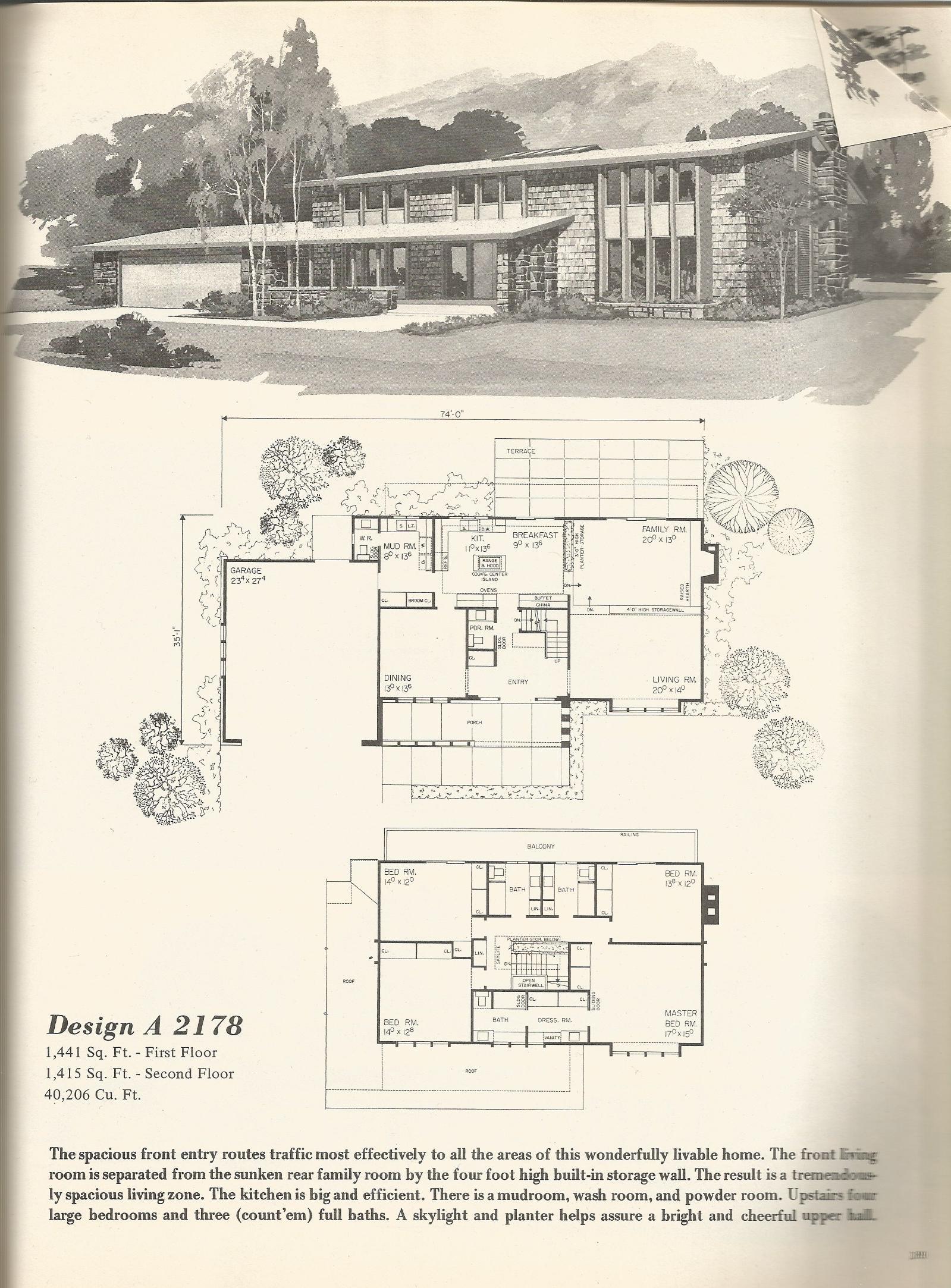 Vintage house plans 2178 antique alter ego for Antique house floor plans