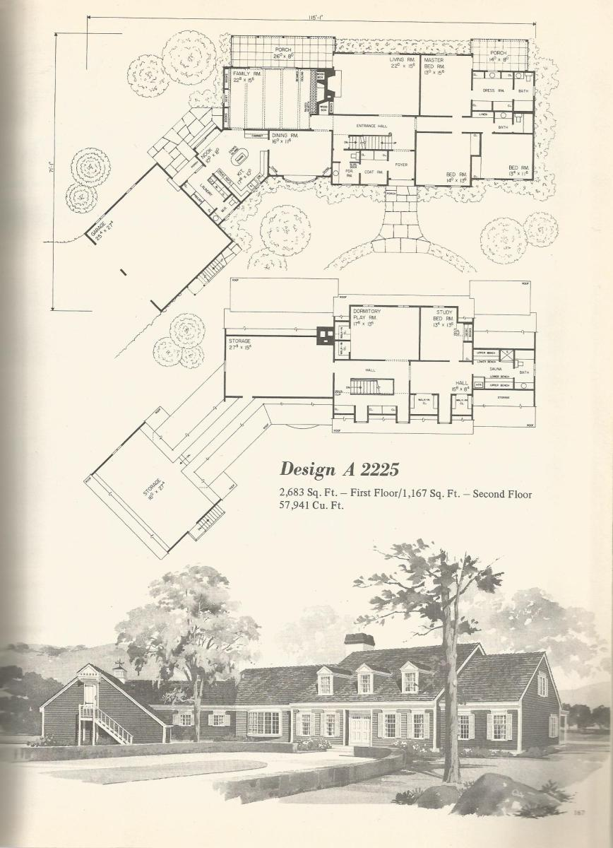 Vintage House Plans, Country Estates