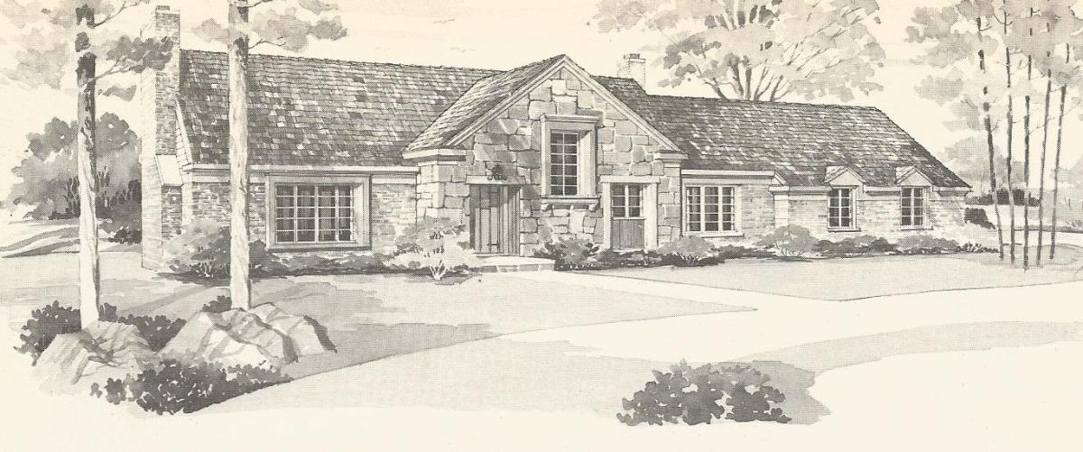 Vintage house plans 1970s country estates part 2 for 1970s ranch house plans