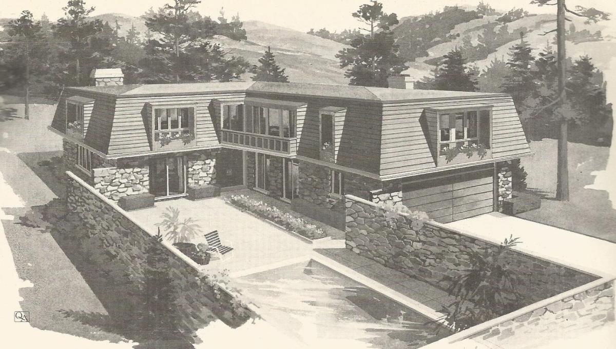 Vintage house plans 1970s contemporary designs antique for 1970s house plans