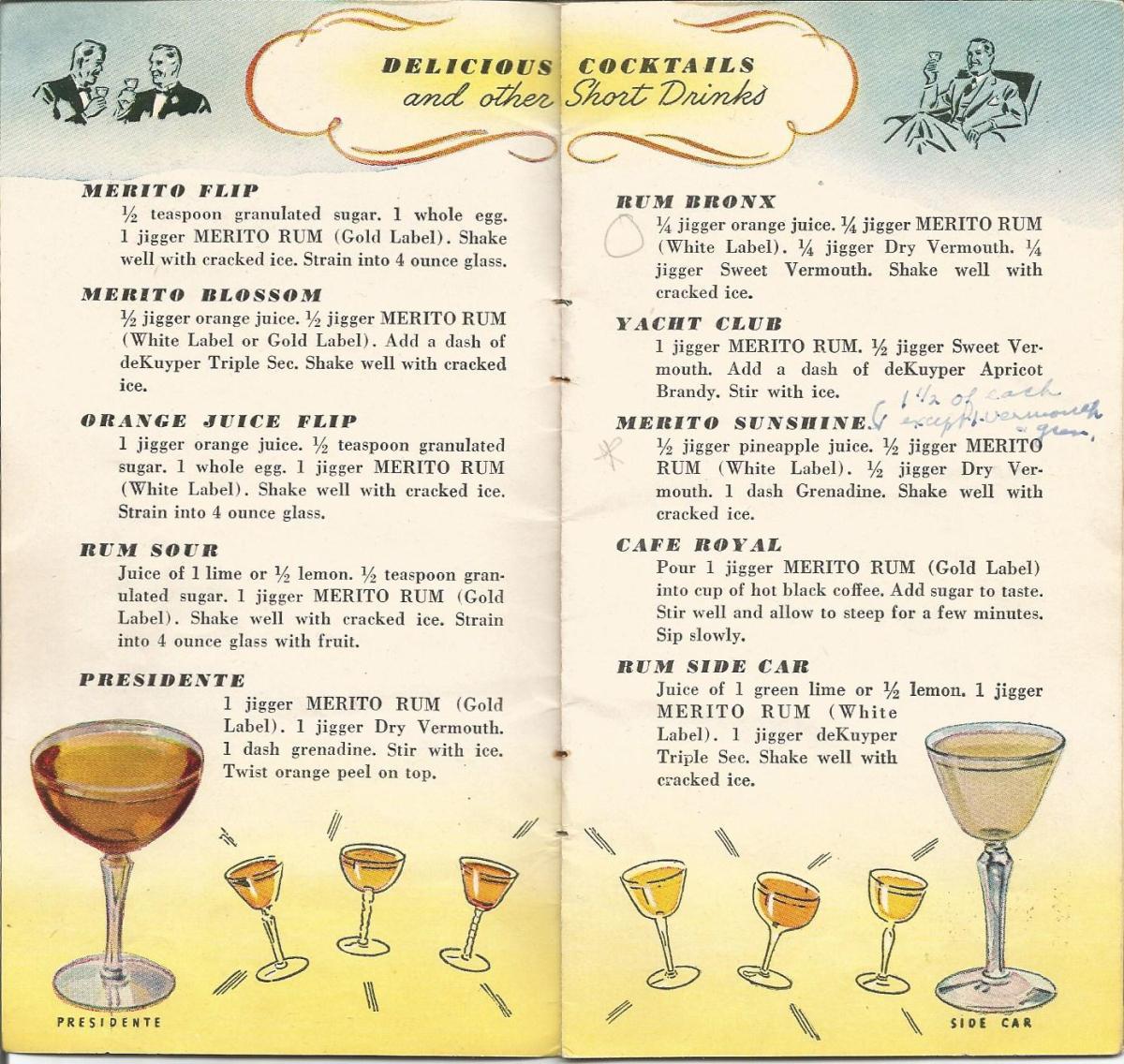 Vintage Recipes, 1940s cocktails
