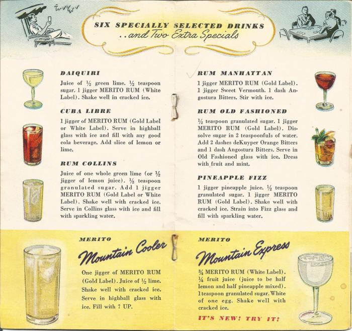 Vintage Recipes, 1940s cocktails