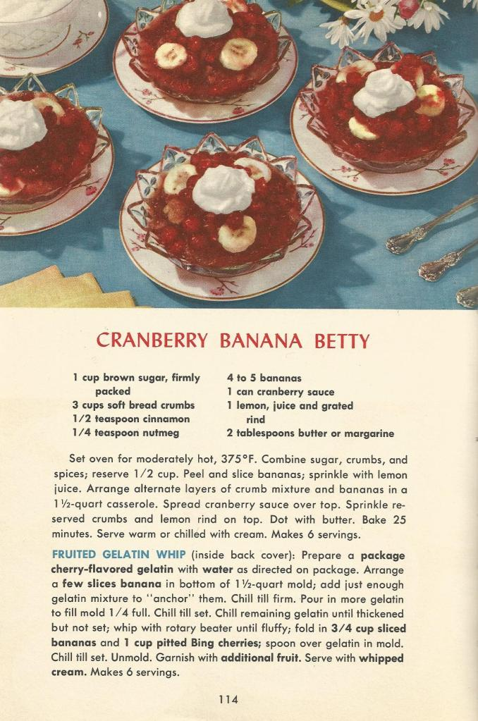 Vintage Recipes  Desserts From 1953