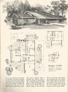 Vintage House Plans, mid century homes, contemporary