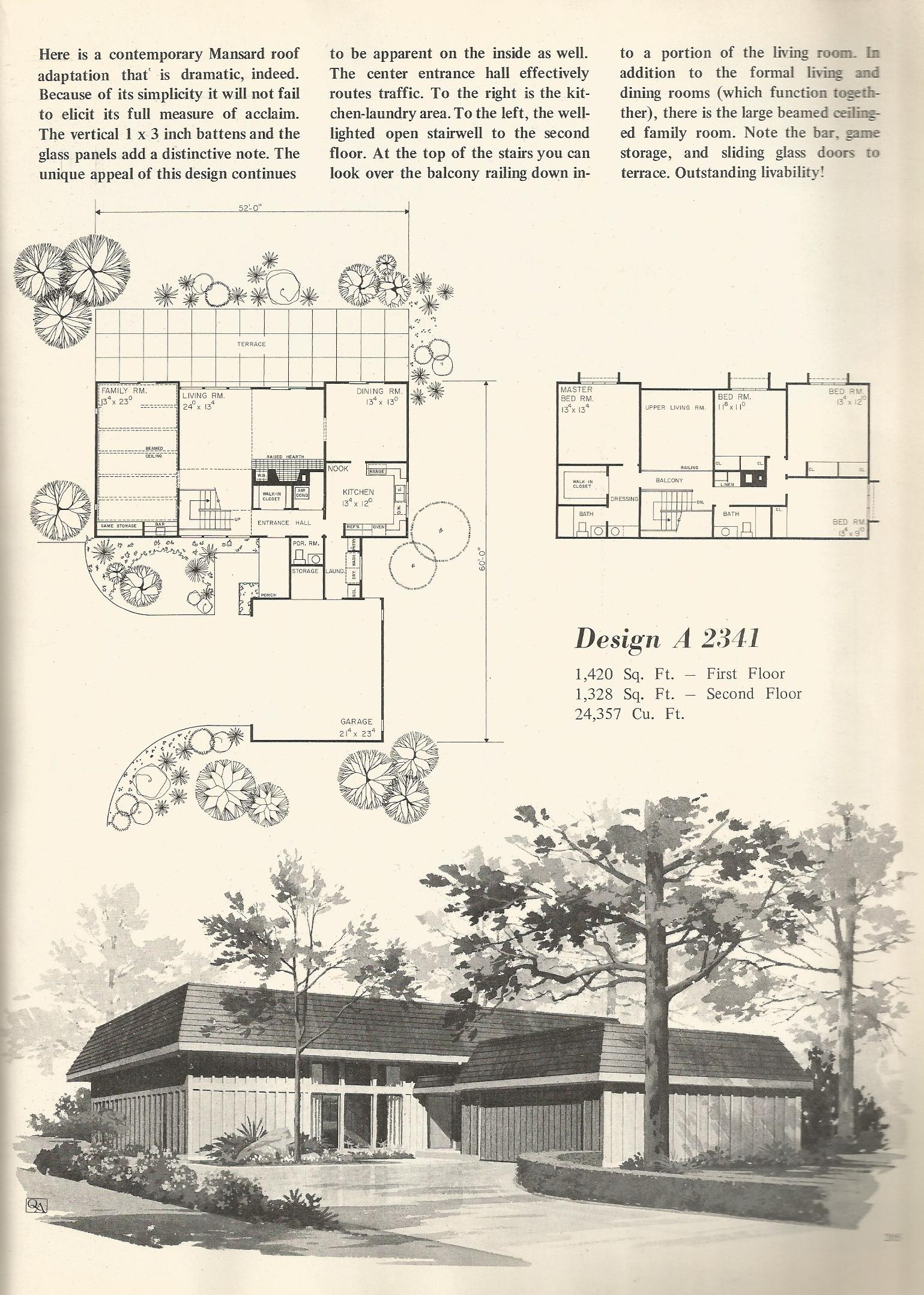 Vintage house plans 1970s contemporary designs part 2 for Retro modern house plans