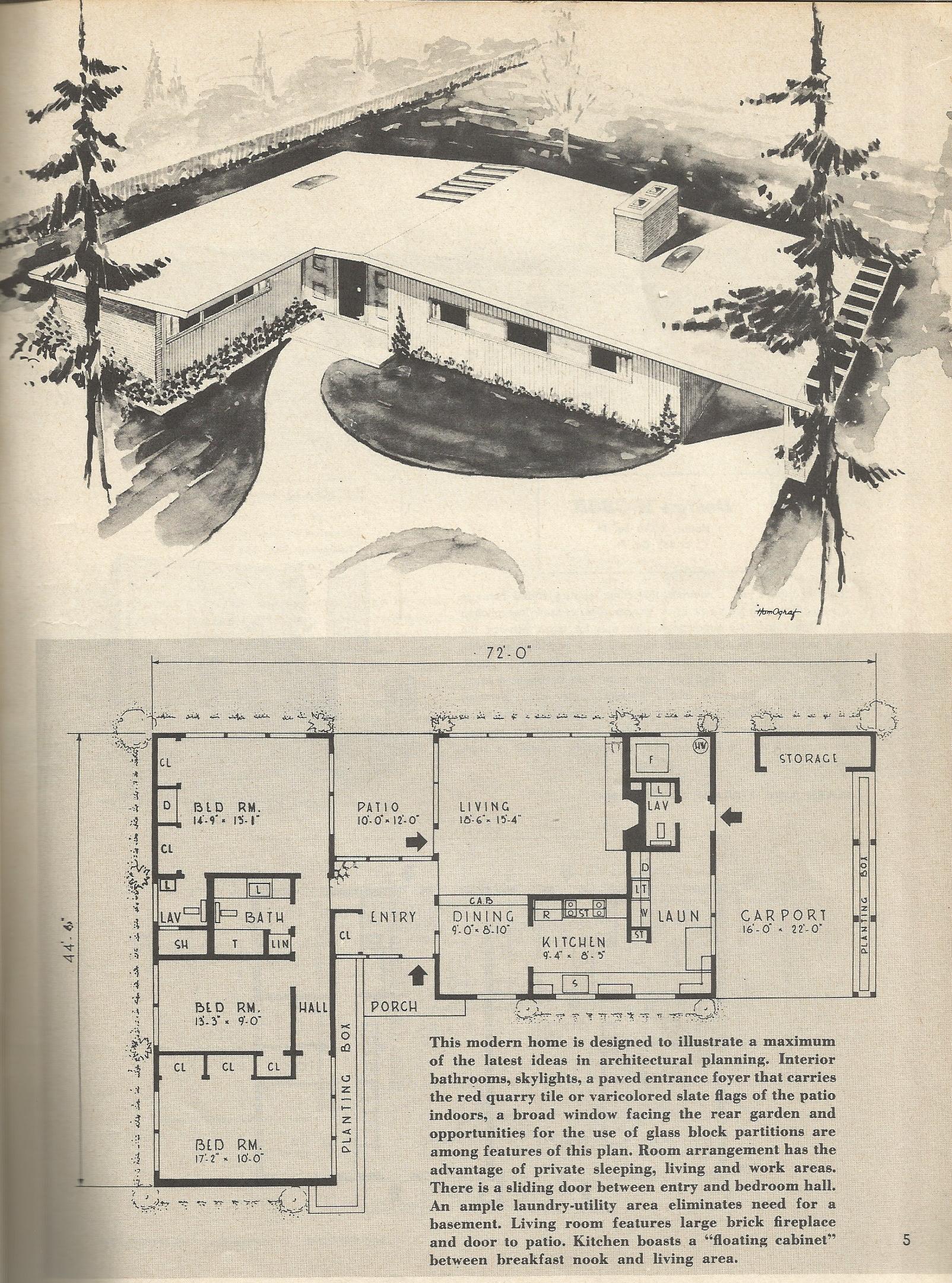 Vintage house plans 372ka antique alter ego for Vintage ranch house plans
