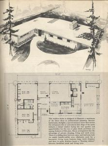 Vintage house plans, mid century homes, 1950s homes