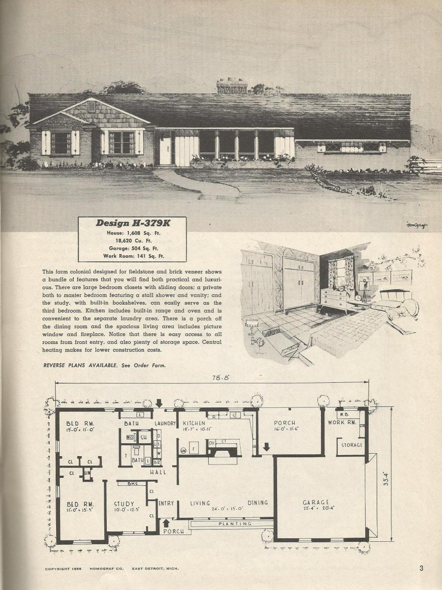 Vintage house plans 379k for Vintage ranch house plans