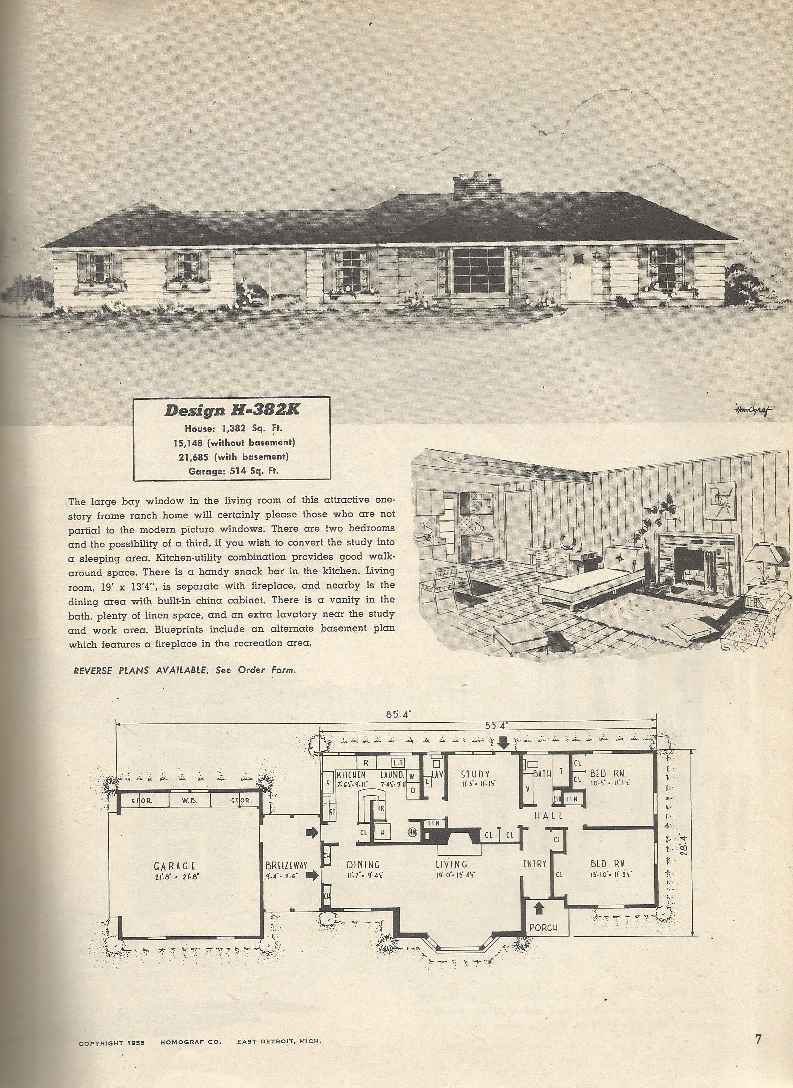 ... House Plans furthermore 1950s Ranch Home Kitchen Designs. on 1950