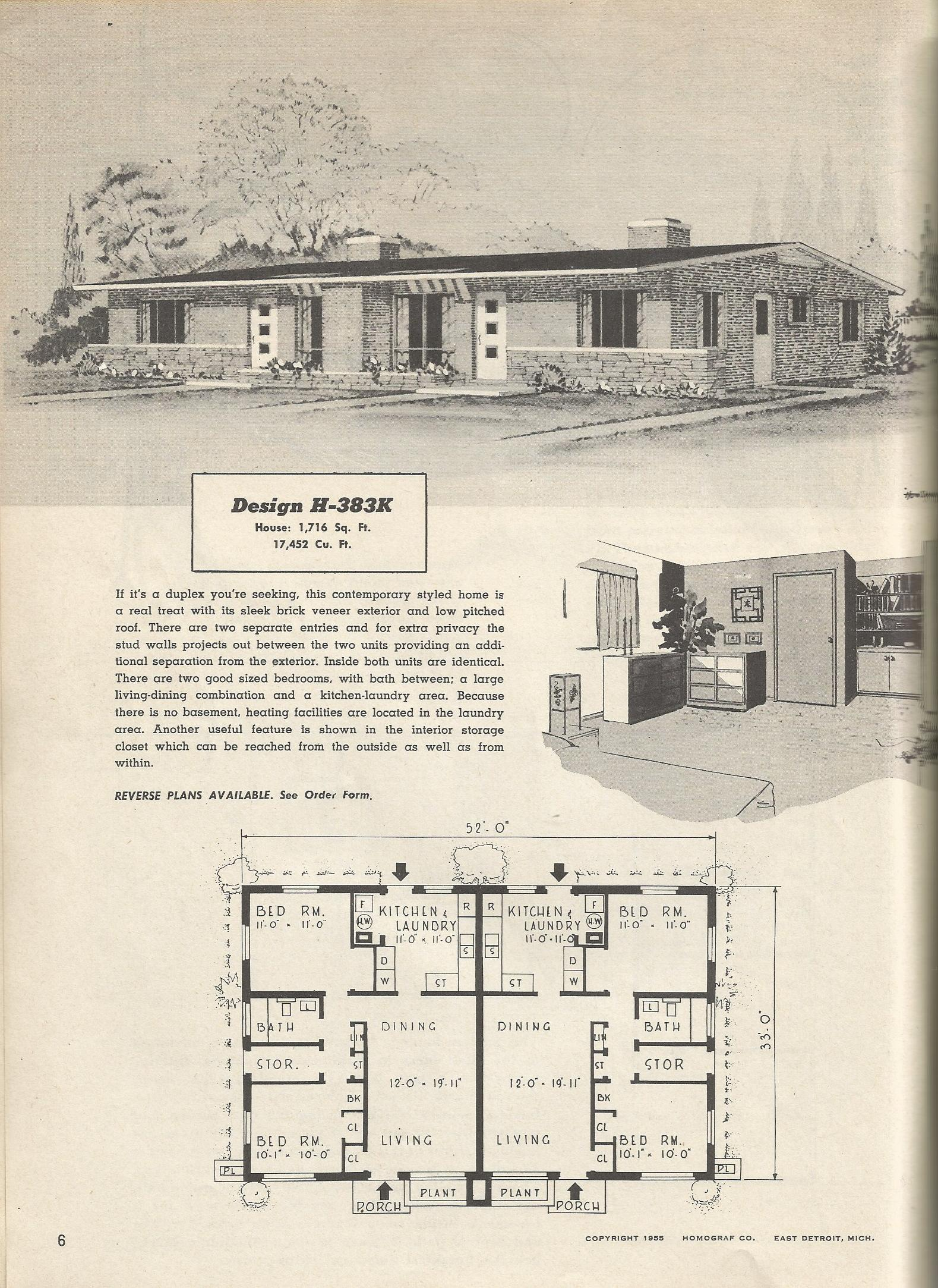 Simple 70 1950s homes inspiration design of best 25 for Ranch style duplex plans