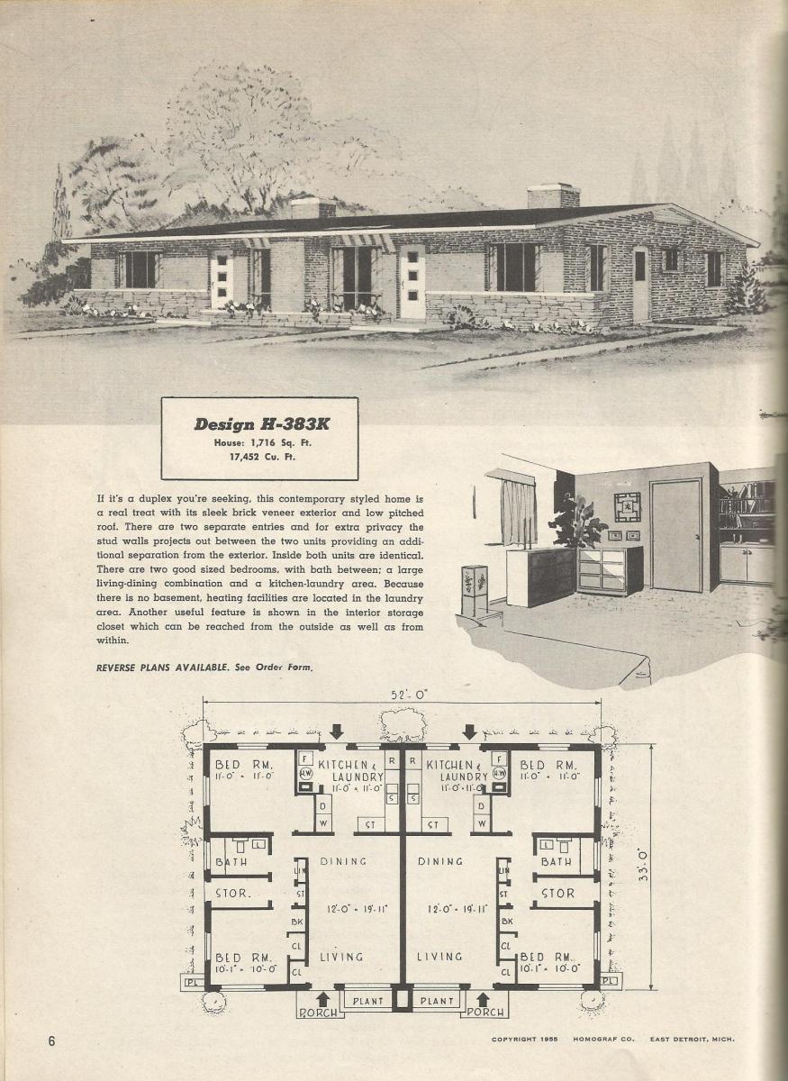 Vintage house plans 383k antique alter ego for 1950 s house plans
