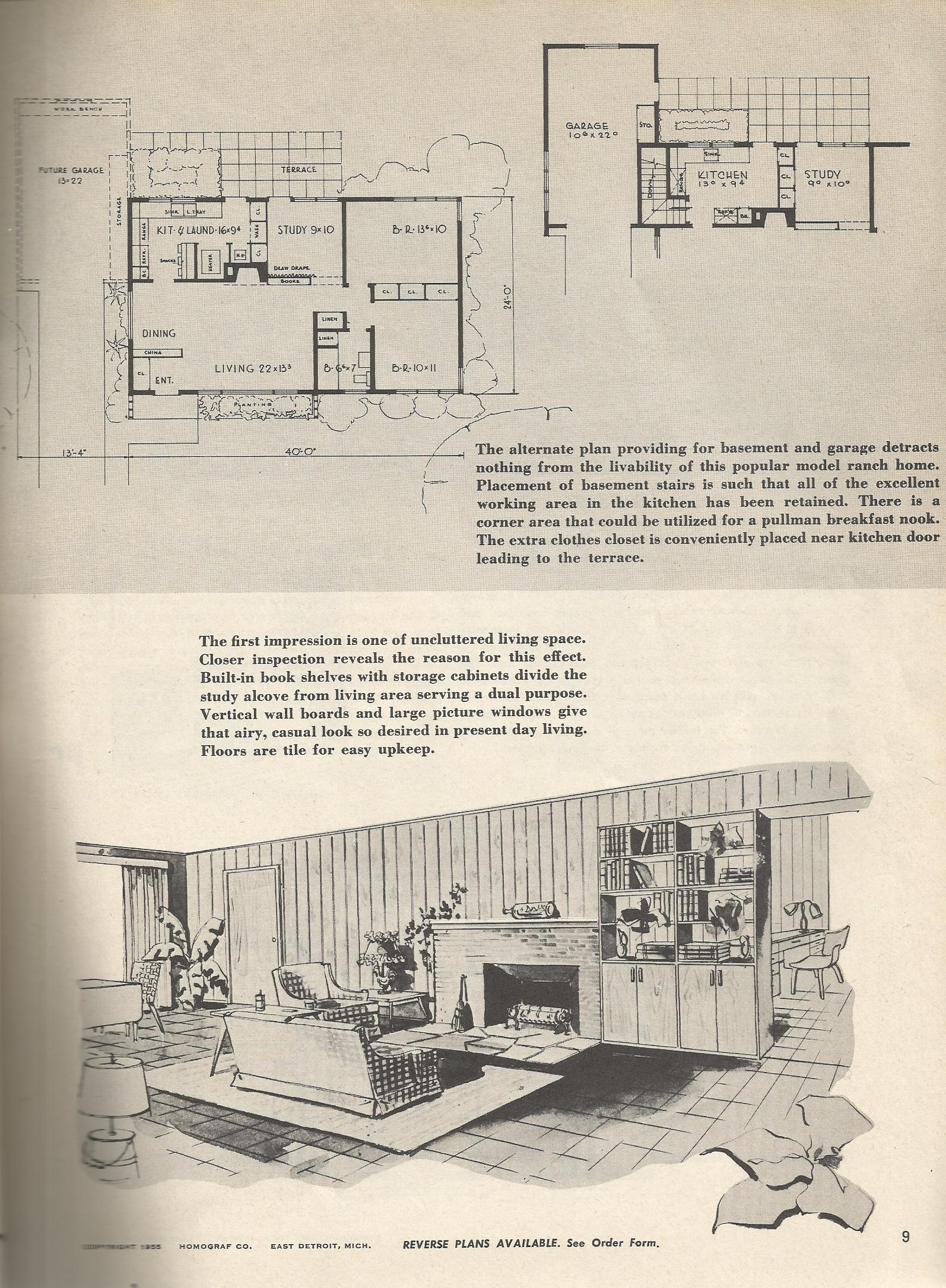 Vintage house plans 7ka antique alter ego for Retro home designs