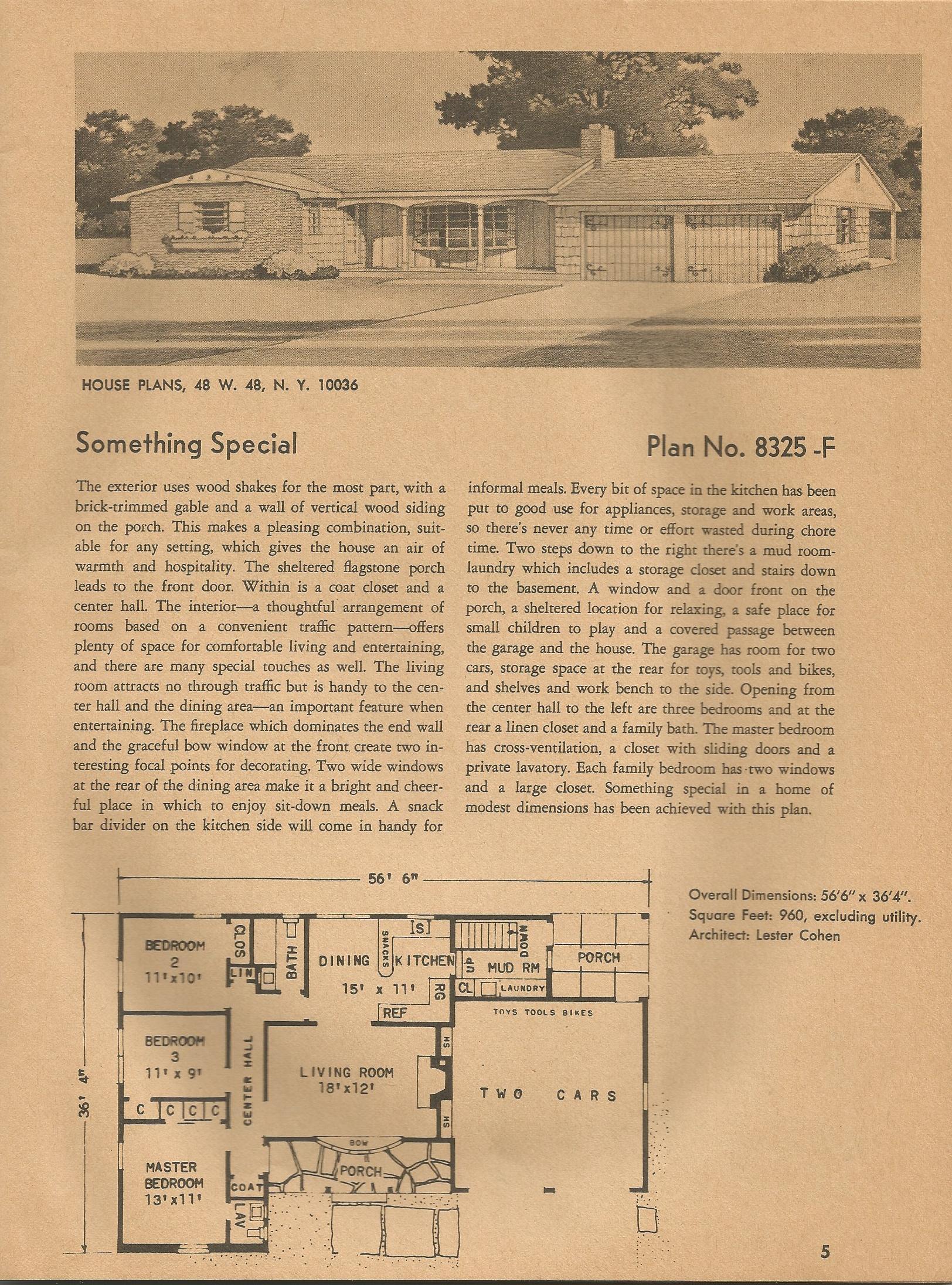 Vintage House Plans 8325 Antique Alter Ego