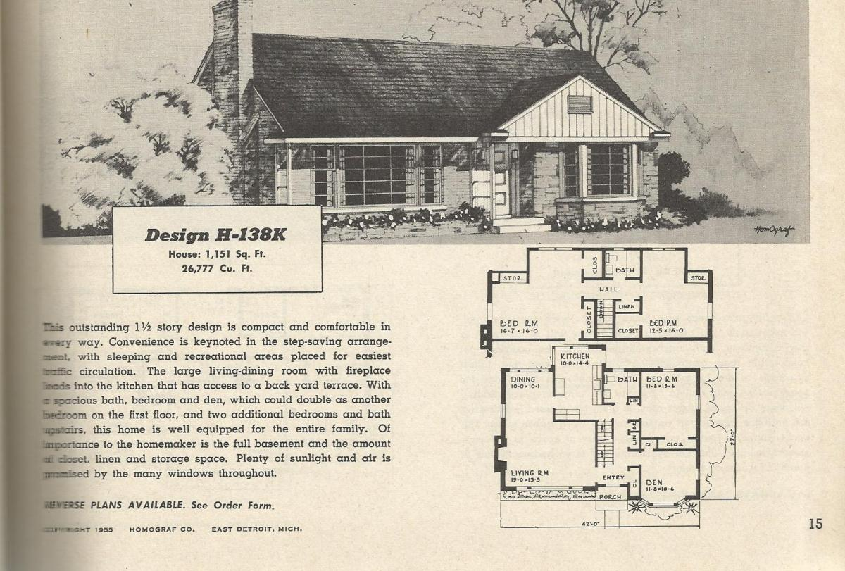 Vintage house plans 138 antique alter ego for 1950 s house plans