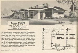 Vintage House Plans, 1950s homes, vintage houses
