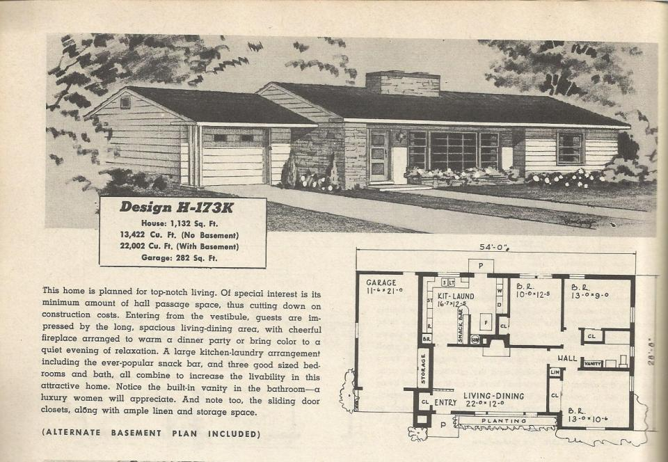 Vintage house plans 173 antique alter ego for 1950s house plans