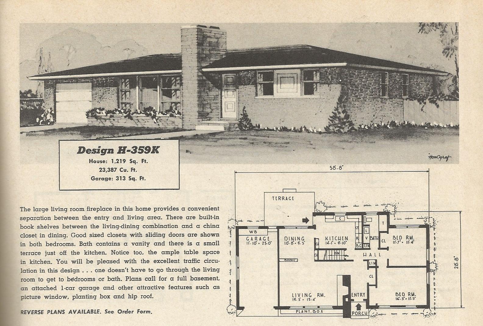 Vintage house plans 359 antique alter ego for Antique house plans