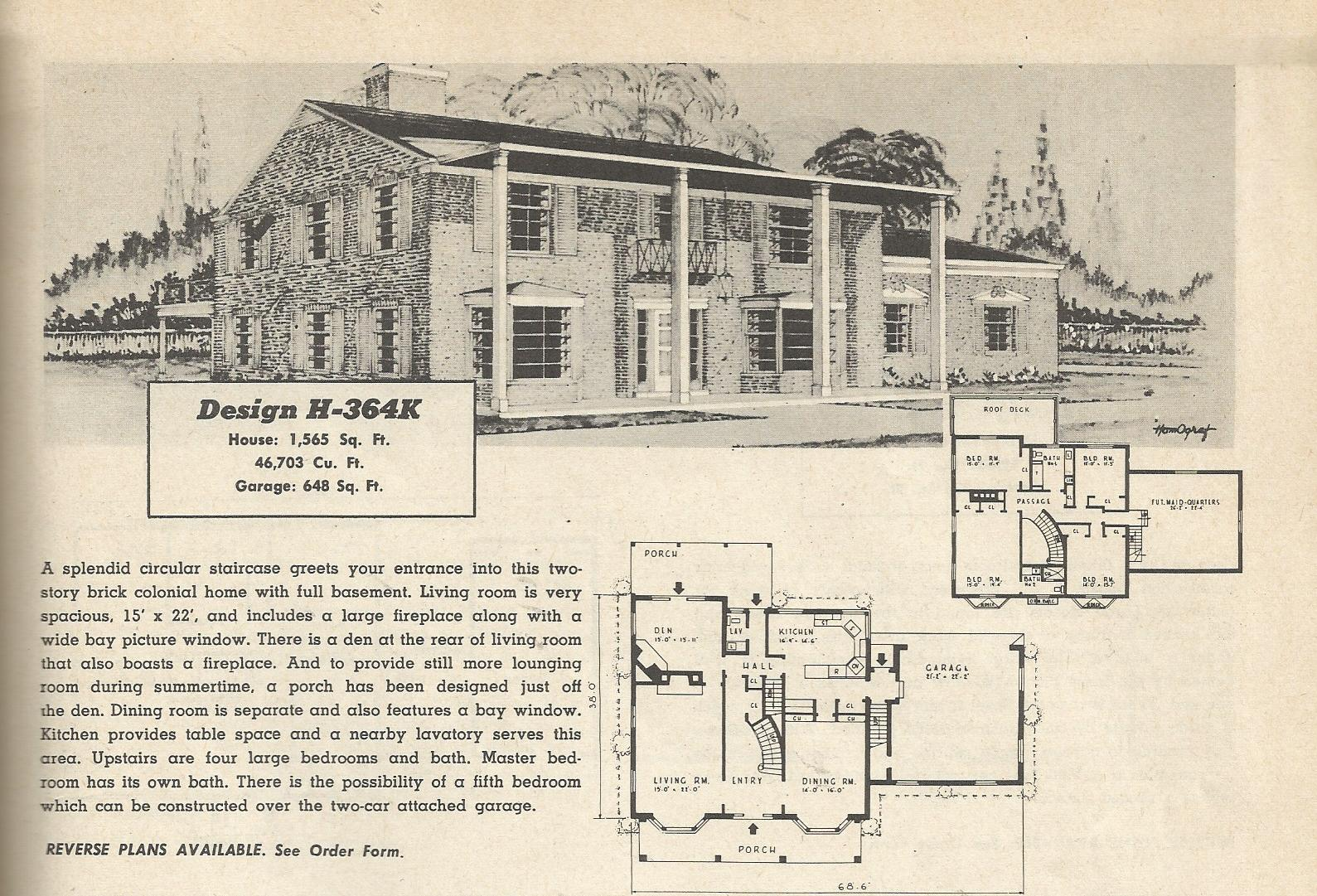 Vintage house plans 364 antique alter ego for Vintage home plans