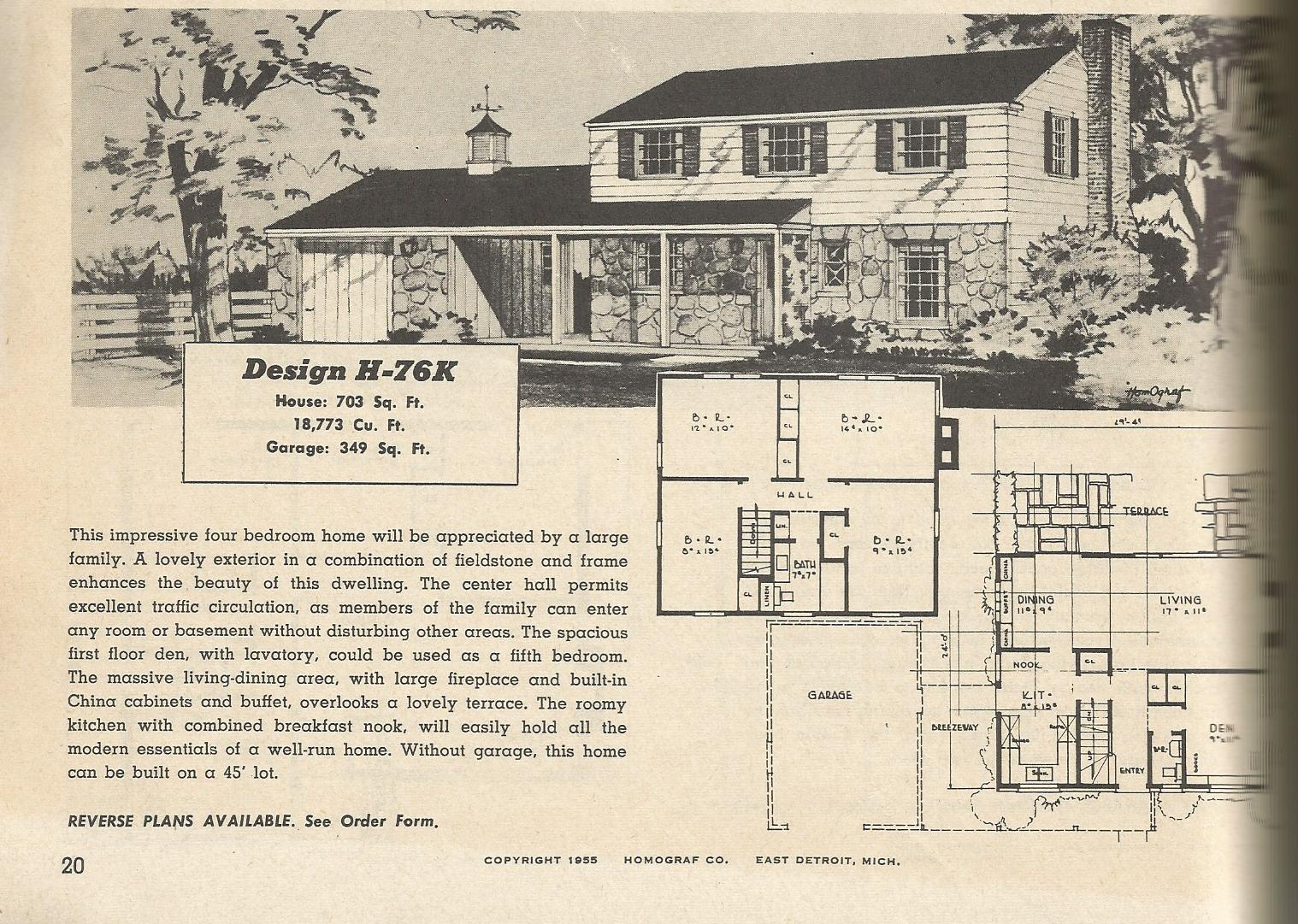 vintage house plans 76?w=300&h=213 vintage house plans 1950s two story, 1 1 2 story and ramblers,1950 Ranch House Plans