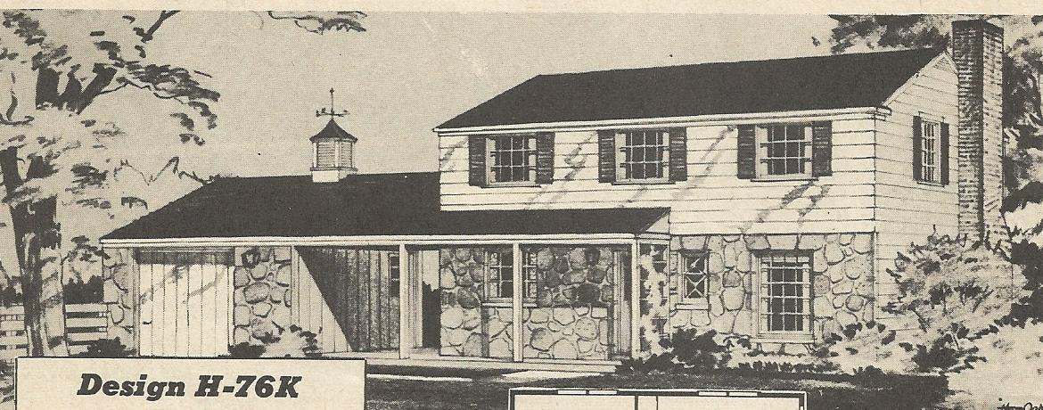 Vintage house plans 1950s two story 1 1 2 story and for House 1950