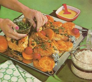 Vintage Recipes, 1960s broiler meals